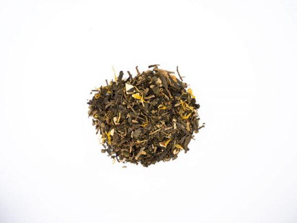 thé vert aux fruits au chanvre